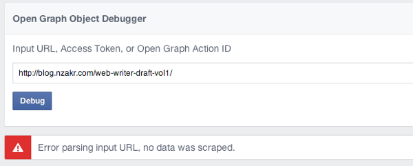 Open Graph Debuggerで検証してみる