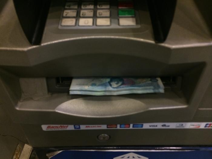 無事ATMから引き出すことに成功