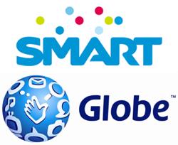 フィリピンの通信会社のSMARTとGLOBE
