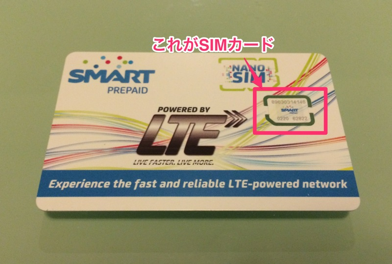 SMARTのSIMカードの外観