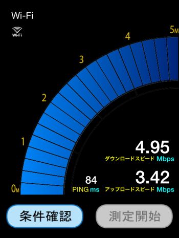 通信速度はそこそこ早い
