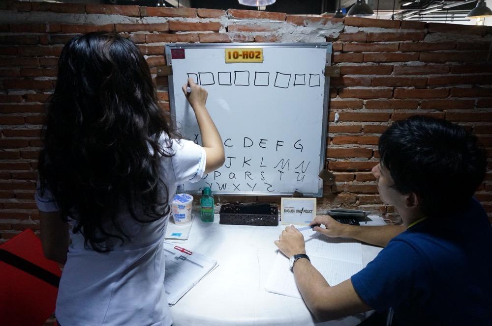フィリピン留学の授業の様子