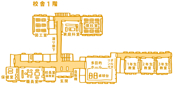 さる小の1階の案内図