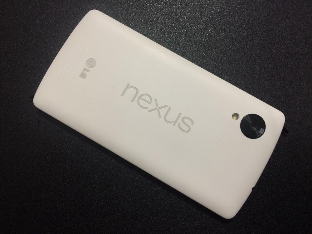 nexus5(32GB)、カラーはホワイトを選択