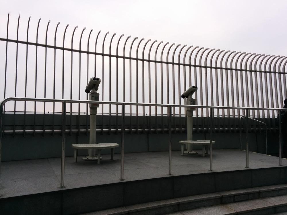 屋外の展望台