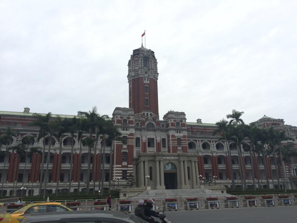 台湾総統府の近影