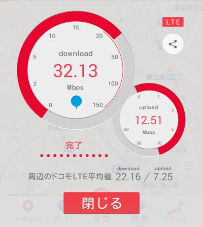 DMMモバイルのスピードテスト
