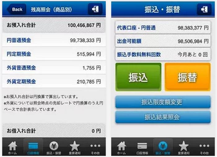 住信SBIネット銀行の専用スマホアプリ