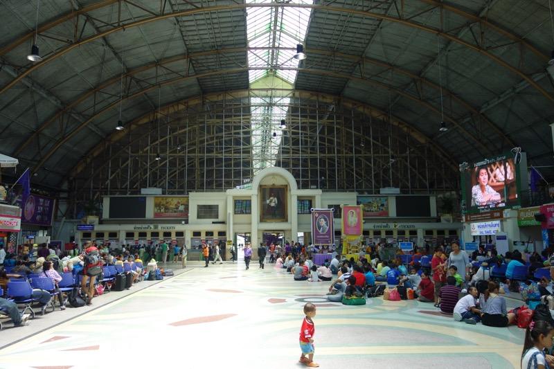 タイ国鉄の待合場
