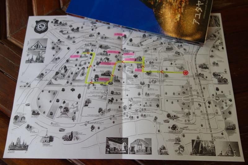 地図をもらいました