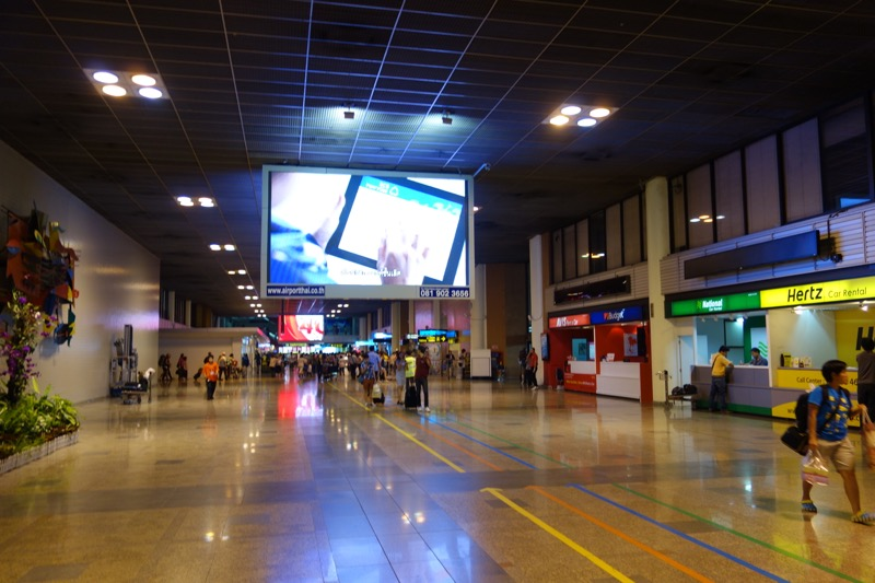 ドンムアン空港の到着ロビー