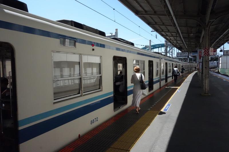 東武野田線のホーム