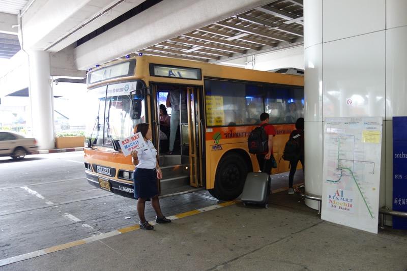 バンコク市内へのエアポートバス