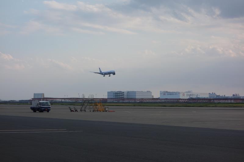 ANAの着陸