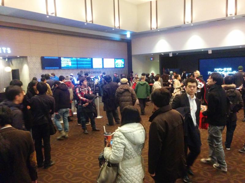 映画館内は混雑