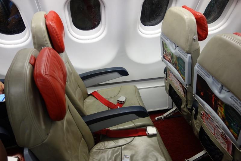 エアアジア機の座席