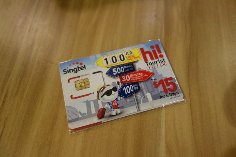 シンガポールの旅行者用SIMカード