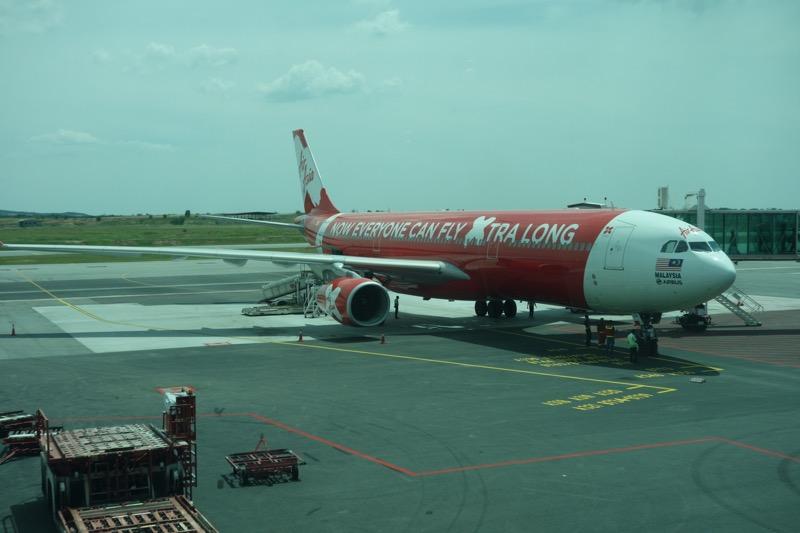 日本行きの飛行機