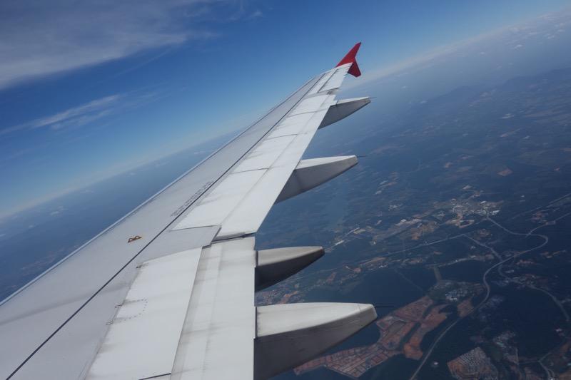飛行機内から撮影