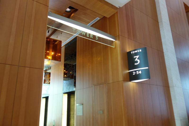 タワー3のエレベーター