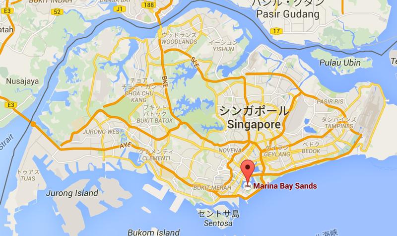 シンガポールの地図