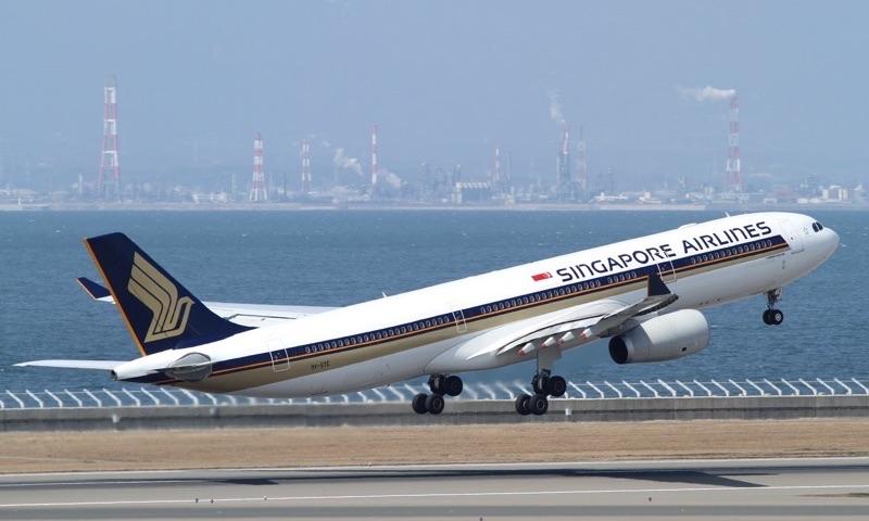 シンガポール航空の飛行機