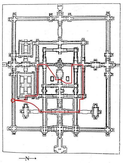 ベンメリア遺跡の地図