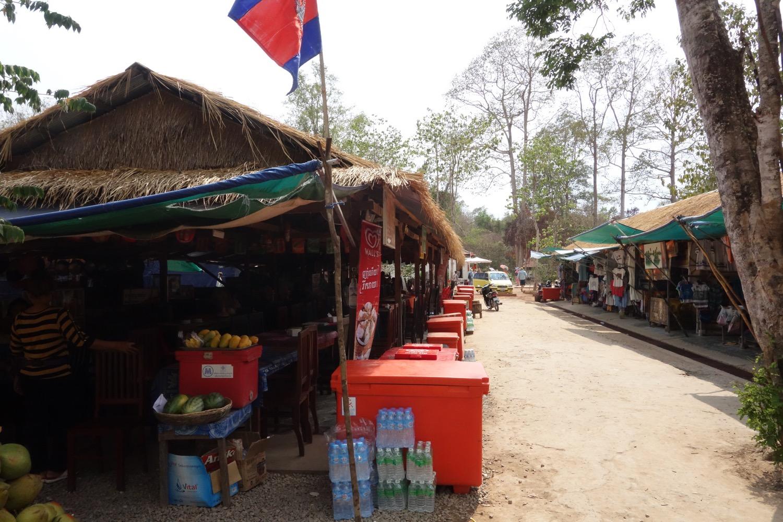タ・プローム近辺の売店