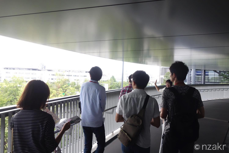 羽田クロノゲートの配送センターの中へ