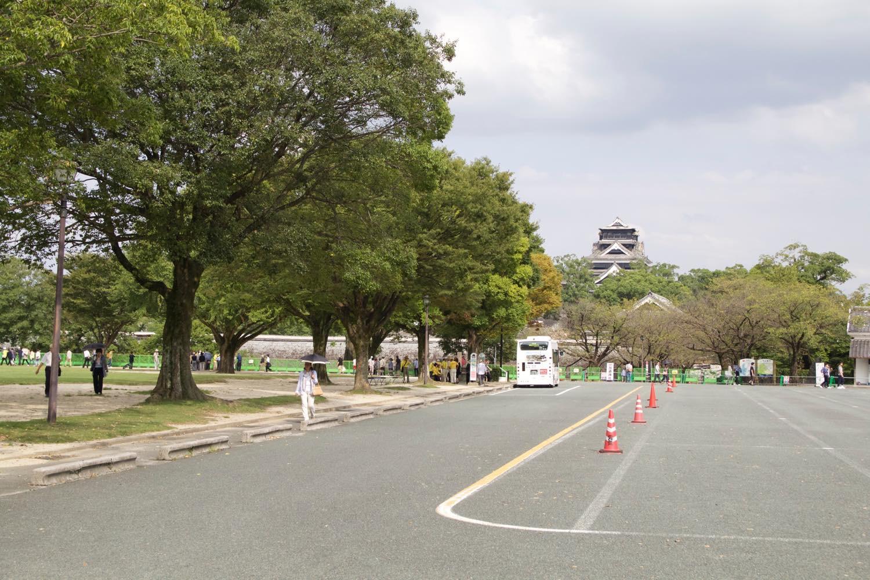 熊本城の駐車場