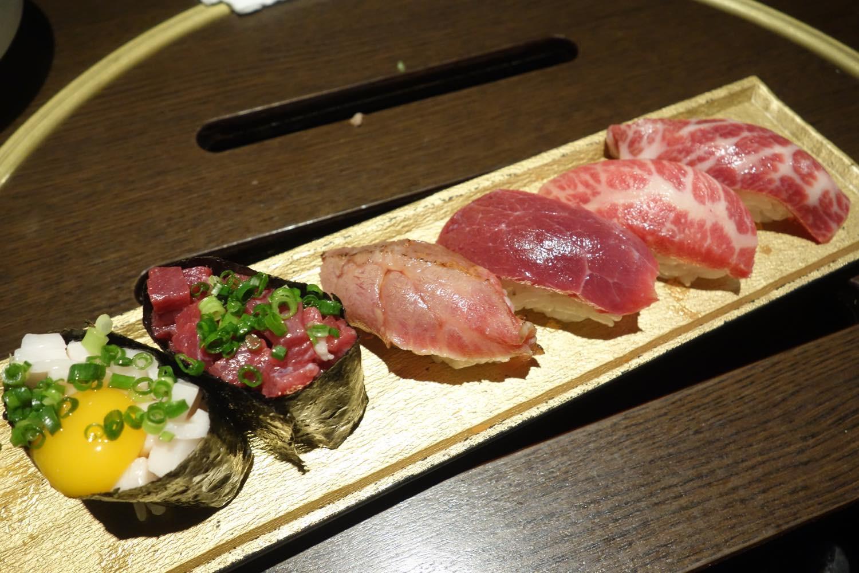 馬肉の寿司