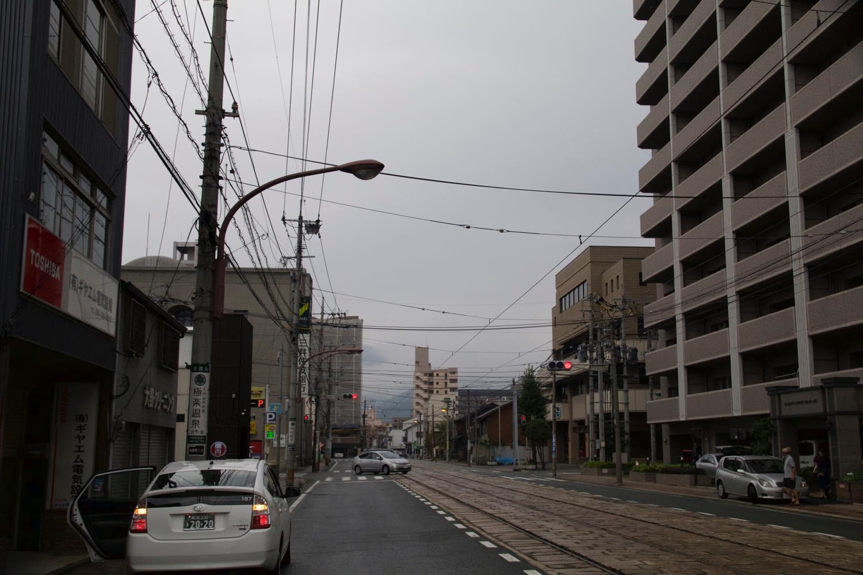 熊本2日目の朝は雨