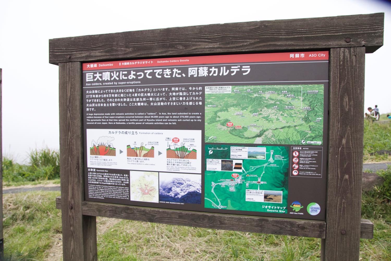 阿蘇山の大噴火、カルデラの説明