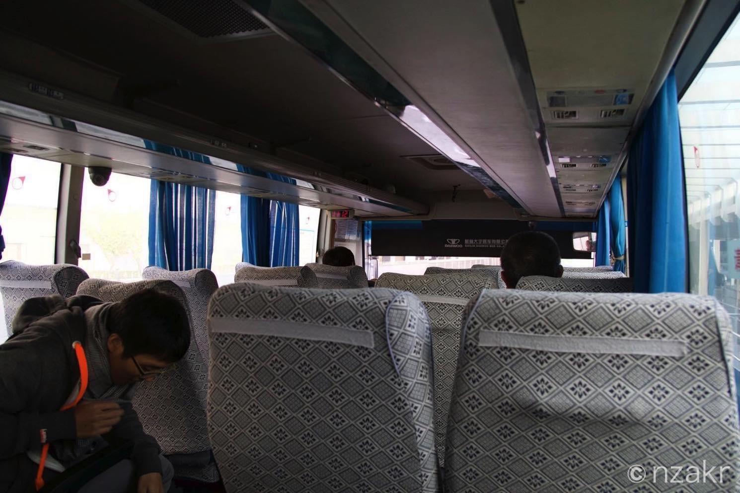 バス内の様子