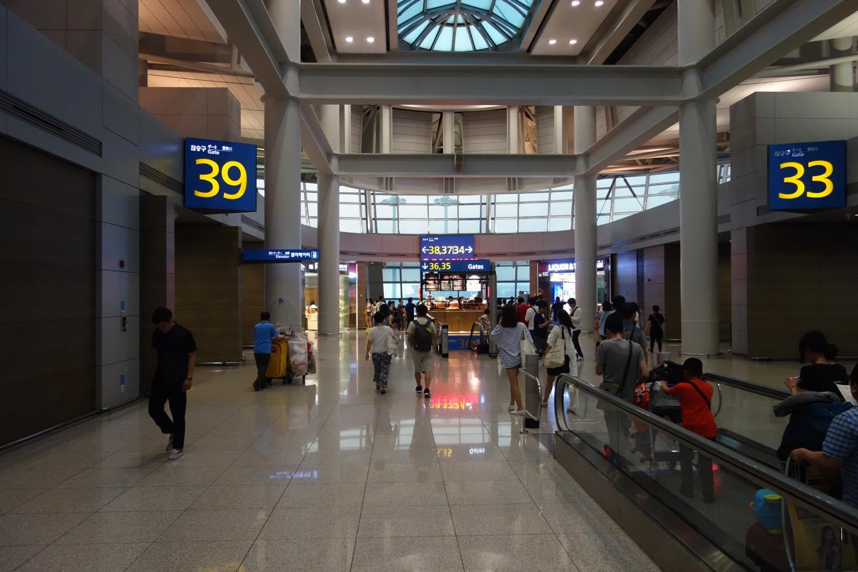 空港内を移動