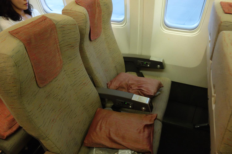 機内の座席