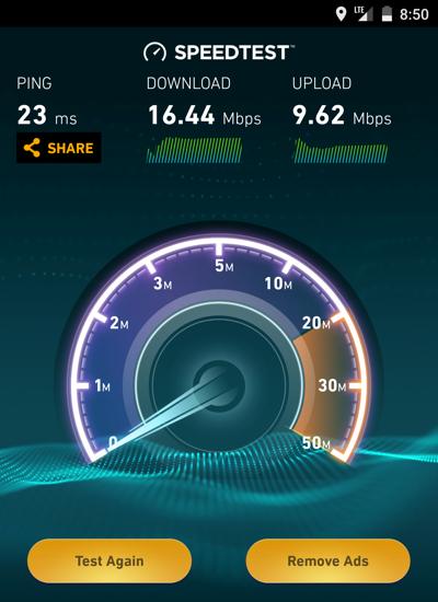 LTEの通信速度