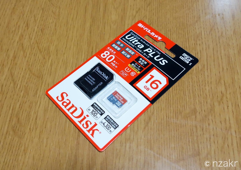 SanDisk MicroSDHCカード 16GB
