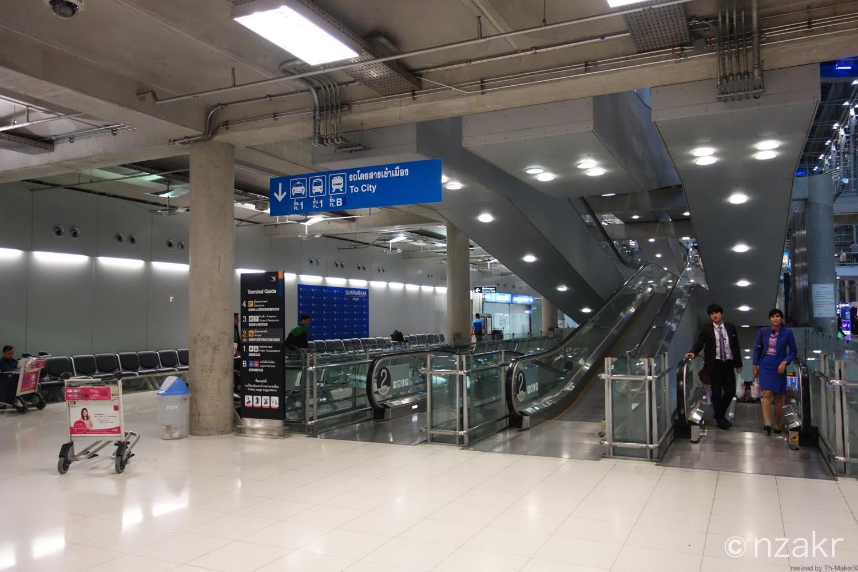 スワンナプーム国際空港のアライバルゲート