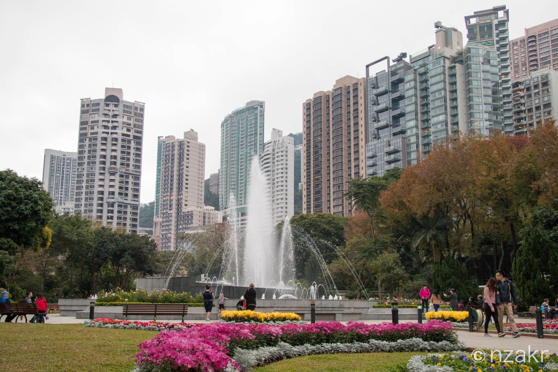 香港動植物公園の噴水広場