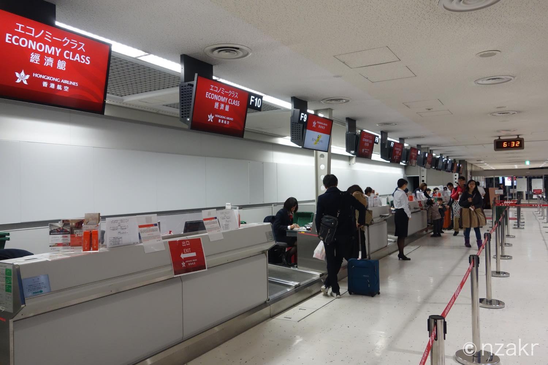 -香港航空のチェックインゲート