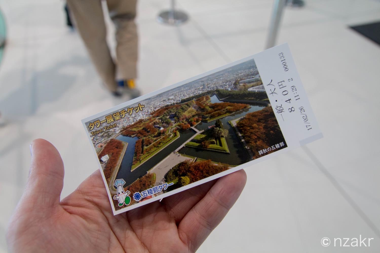 エレベーターの乗車チケット