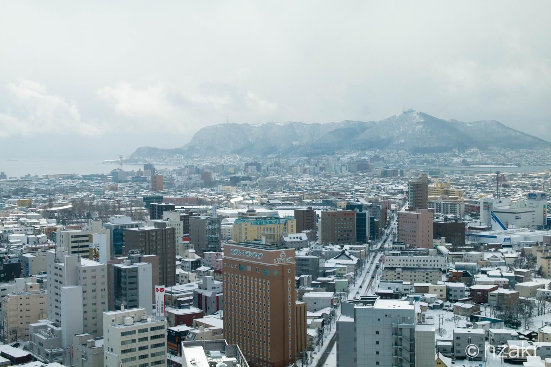 函館山と函館の街並み