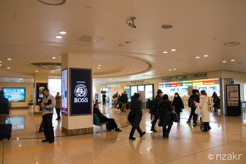 函館空港の到着ゲート