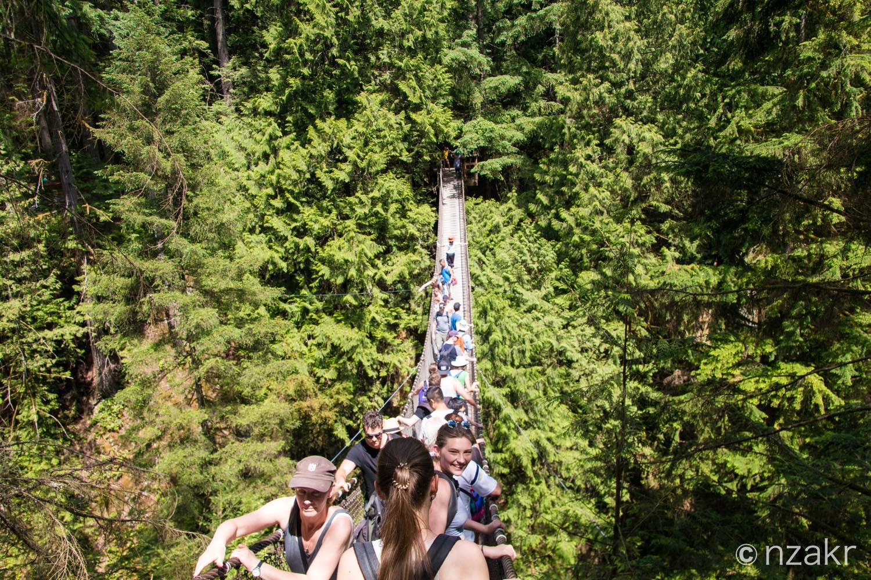 リーンキャニオンの吊り橋(サスペンションブリッジ)