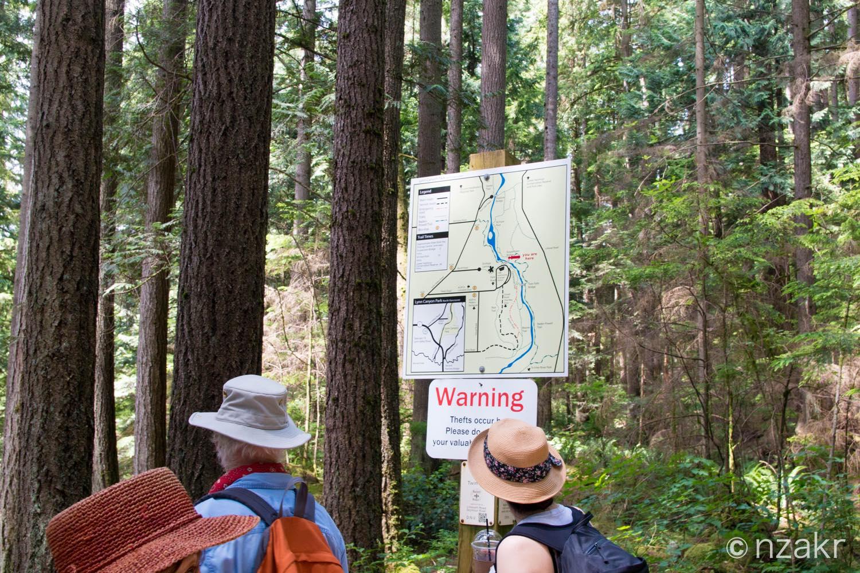 リーンキャニオンのハイキングコース