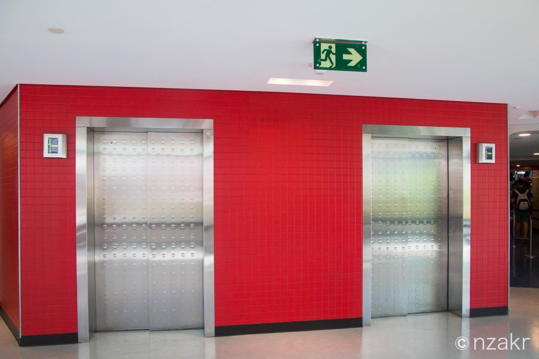 タイムチケット専用のエレベーター
