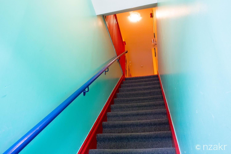 ホステルへの階段
