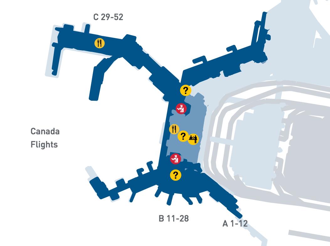 国内線ターミナルの地図