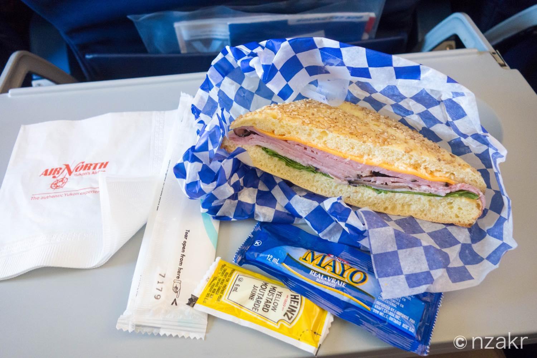 ハムかターキーのサンドイッチ
